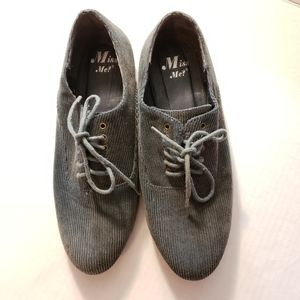 Blue Gray Corduroy Oxfords